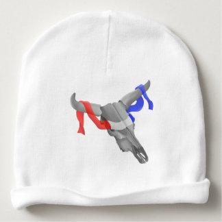 Cinta patriótica del cráneo de moda de la vaca gorrito para bebe