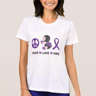 Cinta púrpura de la conciencia de la esperanza del camiseta