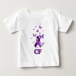 Cinta púrpura de la conciencia: Fibrosis quística Camiseta De Bebé