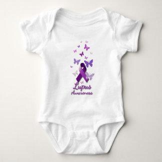Cinta púrpura de la conciencia: Lupus Body Para Bebé