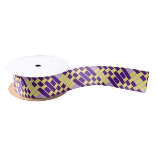 Cinta púrpura y amarilla del modelo de la armadura lazo de raso