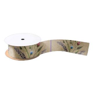 Cinta que hace juego el embalaje papel-floral lazo de raso