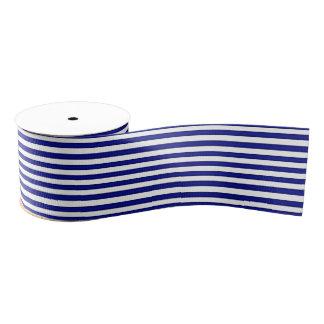 Cinta rayada azul y blanca lazo de tela gruesa