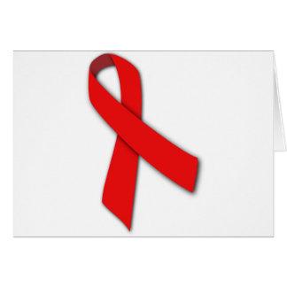 Cinta roja de la solidaridad de la gente que vive tarjeton