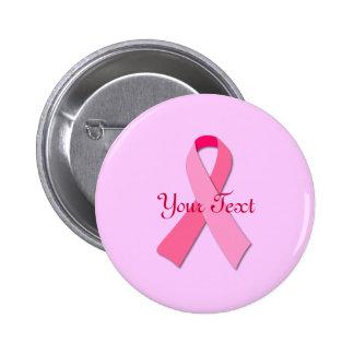 Cinta rosada con el texto de encargo chapa redonda 5 cm