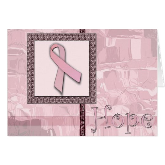 Cinta rosada - esperanza tarjeta pequeña