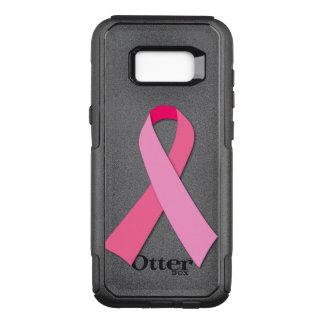 Cinta rosada para la conciencia del cáncer de funda commuter de OtterBox para samsung galaxy s8+