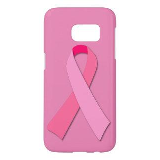 Cinta rosada para la conciencia del cáncer de funda samsung galaxy s7