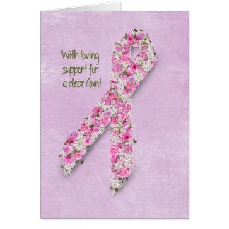 Cinta rosada para la tía tarjeta