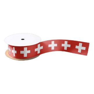 Cinta suiza de la bandera lazo de raso
