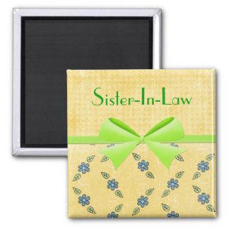 Cinta verde de la Imán-Hermana-En-Ley Imán Cuadrado
