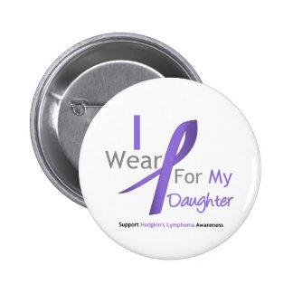 Cinta violeta del linfoma de Hodgkin para la hija Chapa Redonda De 5 Cm