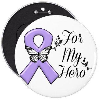 Cinta violeta para mi linfoma de Hodgkins del Chapa Redonda 15 Cm