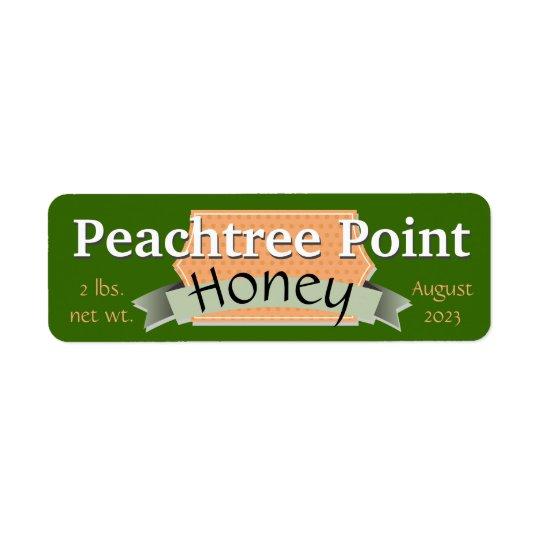 Cinta y tarro personalizado bandera de la miel etiqueta de remite