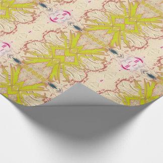 Cintas amarillas chartreuses del oro tradicional papel de regalo