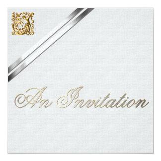 Cintas de plata y boda del oro invitación 13,3 cm x 13,3cm