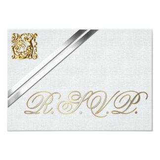 Cintas de plata y boda del oro invitación 8,9 x 12,7 cm