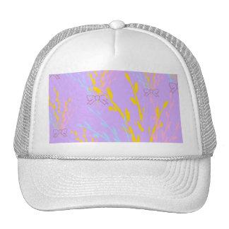 Cintas florales de la conciencia en púrpura de la gorro