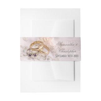 Cintas Para Invitaciones Anillos de bodas románticos de las novias