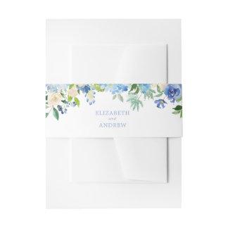 Cintas Para Invitaciones Banda azul del Belly del boda del Hydrangea de la