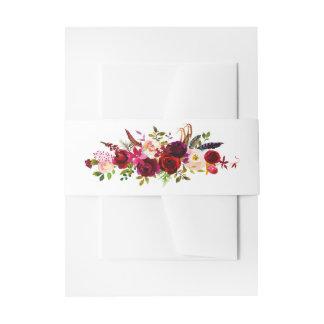 Cintas Para Invitaciones Banda floral del Belly de la invitación de la
