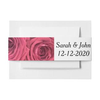 Cintas Para Invitaciones Banda floral del vientre del boda de los rosas