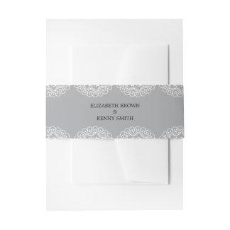 Cintas Para Invitaciones Banda gris elegante del Belly de la invitación del