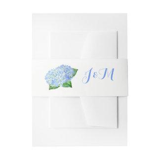 Cintas Para Invitaciones Bandas azules del Belly de la invitación del boda