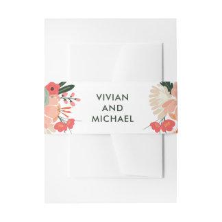 Cintas Para Invitaciones Bandas florales del Belly del boda de Anya