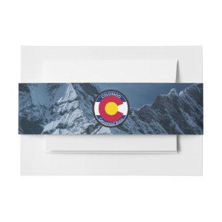 Cintas Para Invitaciones Bandera de la circular de Colorado