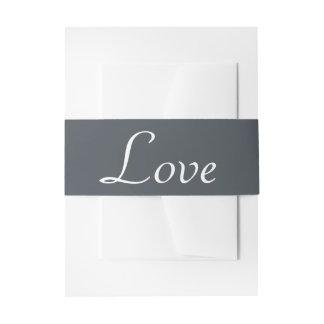 Cintas Para Invitaciones Banquete de boda verde y blanco del amor