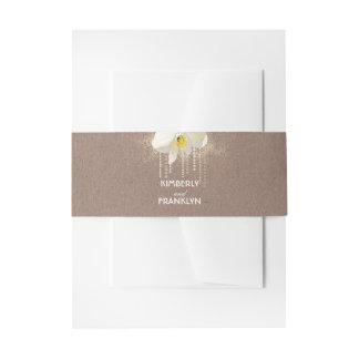 Cintas Para Invitaciones Boda atractivo de la orquídea del oro blanco del