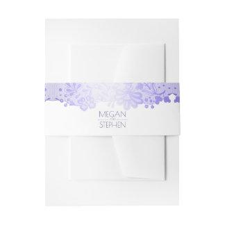 Cintas Para Invitaciones Boda blanco del cordón elegante de la lavanda