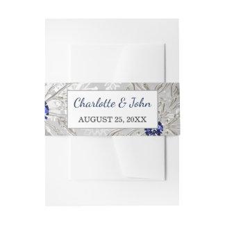 Cintas Para Invitaciones boda de plata del invierno de los copos de nieve