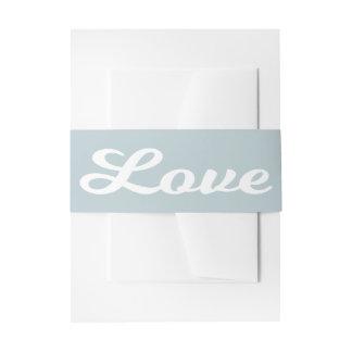 Cintas Para Invitaciones Boda del azul y del blanco de cielo del amor