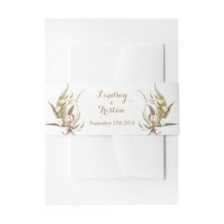 Cintas Para Invitaciones Boda floral del algodón rústico