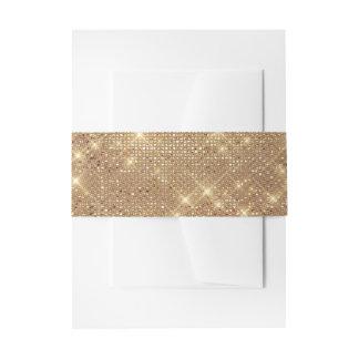 Cintas Para Invitaciones Boda purpurinoso brillante de oro atractivo de