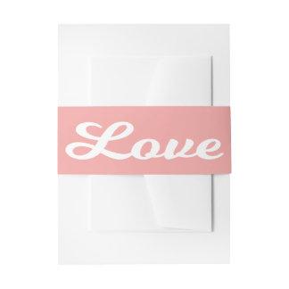Cintas Para Invitaciones Boda rosado y blanco del amor