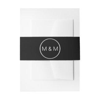 Cintas Para Invitaciones Bodas de plata personalizada del negro elegante
