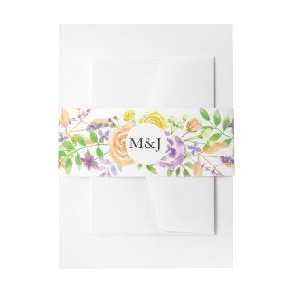 Cintas Para Invitaciones Casar iniciales bonitas florales del sobre de la