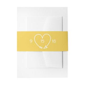 Cintas Para Invitaciones Casar la banda del Belly en gris y amarillo