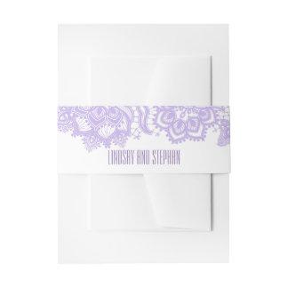 Cintas Para Invitaciones Color de la lavanda del cordón elegante