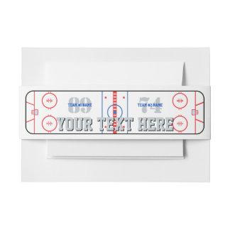 Cintas Para Invitaciones Compañero del juego de hockey del diagrama de la