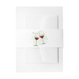 Cintas Para Invitaciones Copas de vino rojas de Borgoña que casan la
