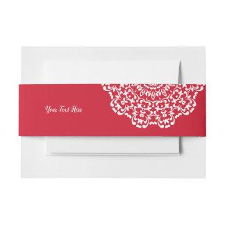 Cintas Para Invitaciones Cordón con clase elegante blanco rojo