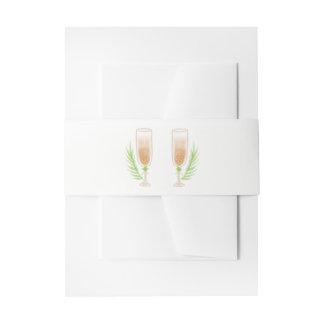Cintas Para Invitaciones El casarse verde de los vidrios de Champán del