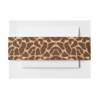 Cintas Para Invitaciones Estampado de girafa