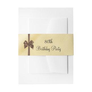 Cintas Para Invitaciones Falso cumpleaños elegante del lazo de satén del