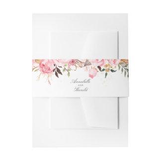 Cintas Para Invitaciones Floral rosado