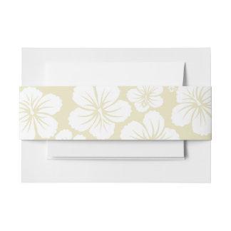 Cintas Para Invitaciones Flores blancas del hibisco